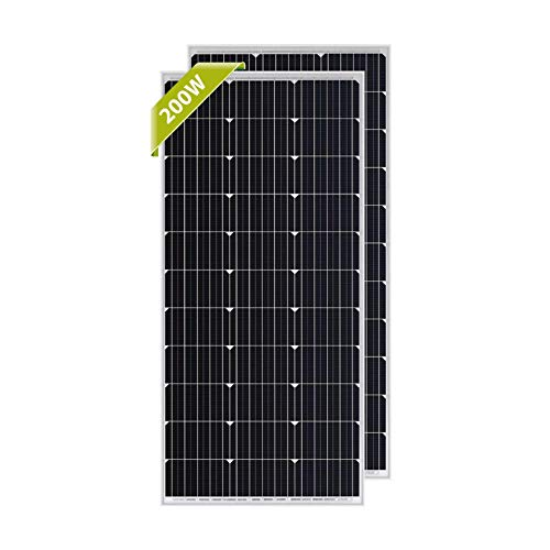 Newpowa 100 Watt Monocrystalline 100W 12V Solar Panel High Efficiency Mono Module RV Marine Boat Off Grid ... (2 pcs) (Best 12 Volt Solar Panels)