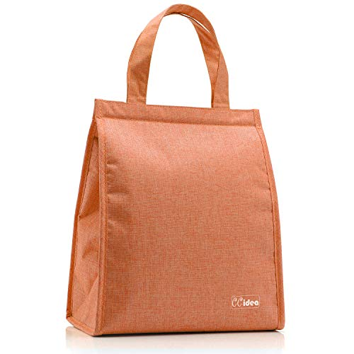 Lunch Bag For Kis & Women or Men, CCidea Simple Waterproof Insulated Large Adult Lunch Tote Bag,8 Colors Available.