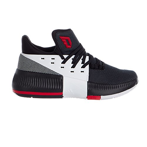 Price comparison product image Adidas Unisex Basketball Dame Lillard 3 Shoes - Core Black / Running White Ftw / Scarlet - Kids - 5.5