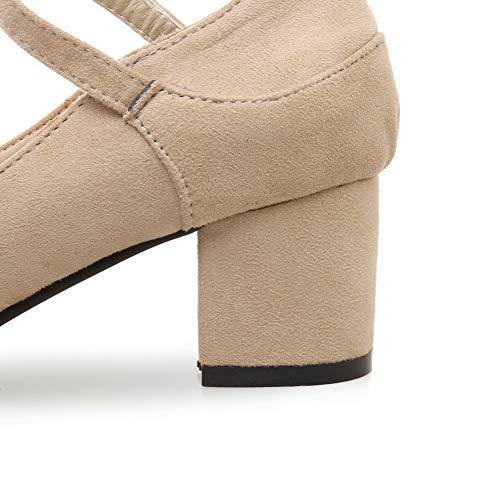 Beige 36 Compensées Abricot Femme AN Sandales 5 DGU00518 U7qnCZI
