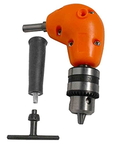 Right Angle Drill Attachment Chuck Adapter Electric Power Cordless 3/8 90 Degree by ZEERMENG