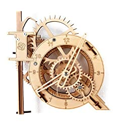 Real Wooden Pendulum Clock. 3D Puzzle. Assembly kit. 4UIQ.
