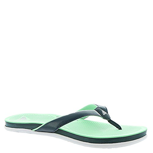 adidas Performance Women's Cloudfoam Plus Y W Athletic Sandal, Collegiate Navy/White/Easy Green, 7 M US (Adidas Water Slides)