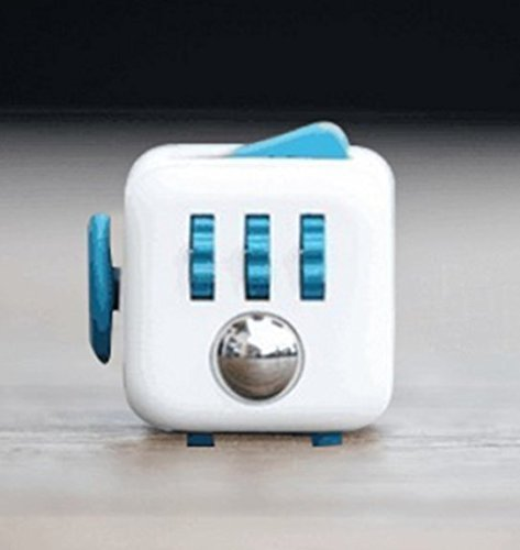 Fidget Cube Relieves Stress And Anxiety for Children and Adults Anxiety Attention Toy (Blue)