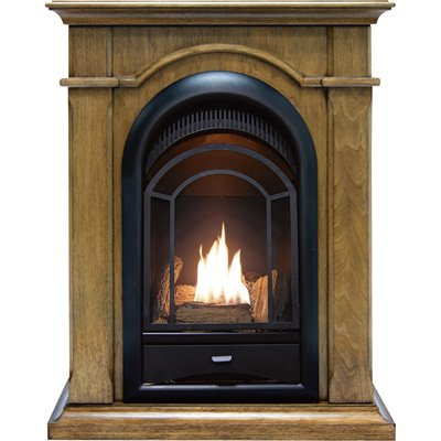 ProCom Ventless Gas Fireplace, Dual Fuel, Vent Free, Mental Included-Toasted Almond Finish-15,000 BTU PCS150T-A-TA