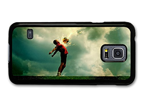 Football Kid Catching Flaming Ball from Sky Cool New Design coque pour Samsung Galaxy S5 mini