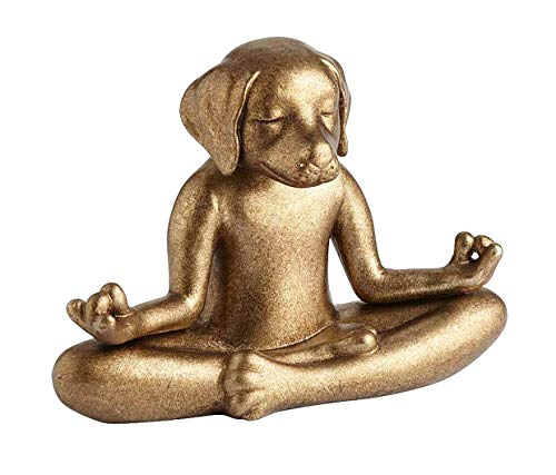 Pier 1 Imports Gold Terracotta Yoga Meditation Dog Figurine by Pier 1 Imports