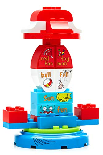 Mega Bloks Dr. Seuss The Cat in The Hat Carousel Building Set (24 Piece), -