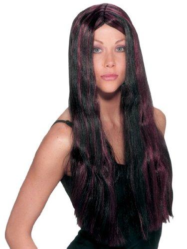 Summitfashions Witch Wig Striped Wig Black (Witch Striped Wig)