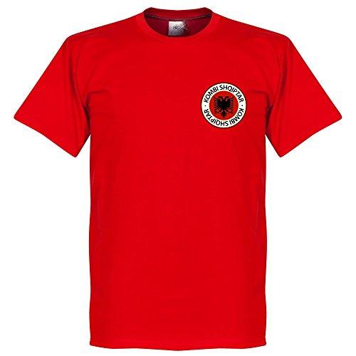 Albania Badge Maglietta–Rosso