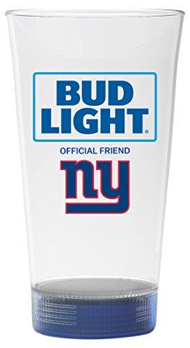 Bud Light Giants Touchdown Glass, New York Giants - Anheuser Busch Collectibles