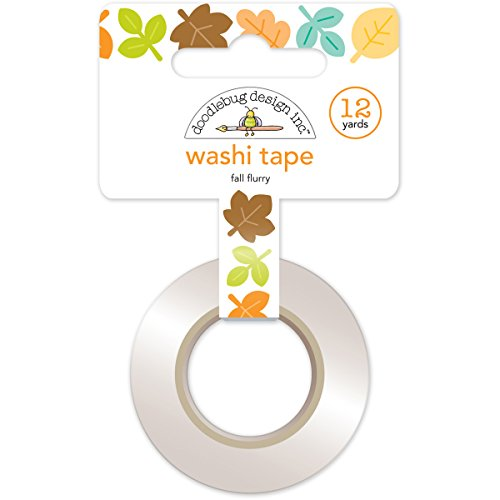 Doodlebug Washi Tape 15mm X 12yd-Flea Market Fall Flurry -