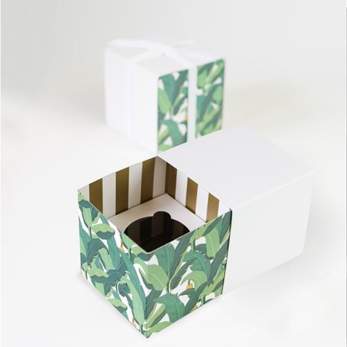 Paper Eskimo Cupcake Box (Pack of 6), Troppo Leaf CBTL1402