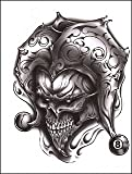 Joker Skull Temporaray Tattoo