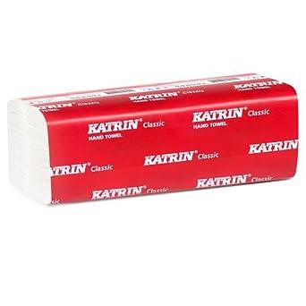 Katrin aek769 Classic Zig Zag Mini toalla de mano, 2 capas, color blanco (