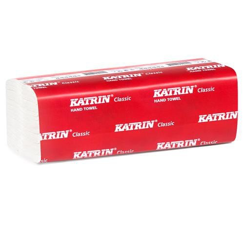 Katrin AEK769 Classic Zig Zag Mini Hand Towel, 2-Ply, White (Pack of 750)