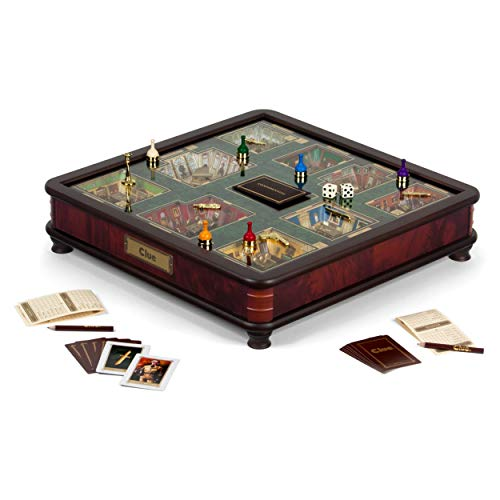 Clue Luxury Edition Board Game by Winning Solutions with Gold Foil-Stamped Board, Deluxe Storage Box and Accessories