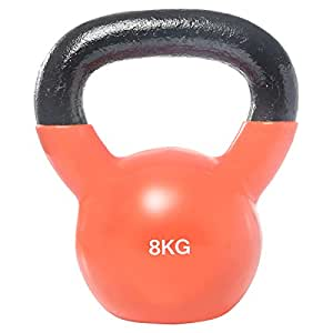 Vinyl Dipping Kettlebell - 8 kg, Orange