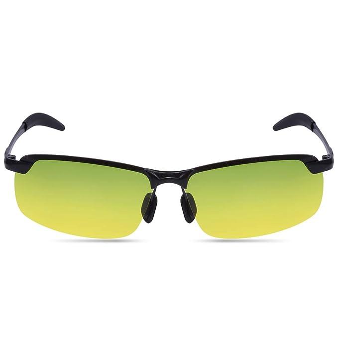 PChero HD gafas antideslumbrantes gafas de visión diurna y nocturna gafas de sol polarizadas UVA protección