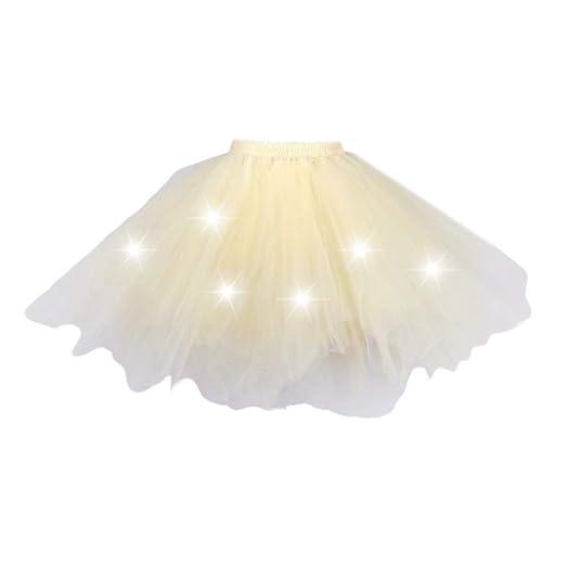 Chiic - Falda de Tul para Mujer, Falda de tutú, Falda para Vestido ...