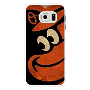 Galaxy S6 Case, Onelee(TM) MLB Baltimore Orioles Samsung Galaxy S6 Case [White Hard Plastic]