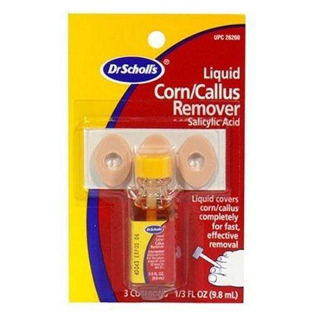 Dr. Scholl's Liquid Corn & Callus Remover,.33 oz. (3-Pack) - Scholls Liquid Corn
