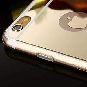 Carcasa resistente a golpes de material gel TPU Funda [IPhone 6] con diseño de espejo dorado