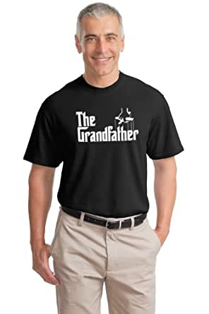 The Grandfather | Funny Father's Day Grandpa Godfather Spoof Unisex T-shirt-Black, 3XL