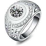 Fashion Women Silver Crystal Rhinestone Jewelry Wedding Engagement Wedding Ring WelcomeShop (8)