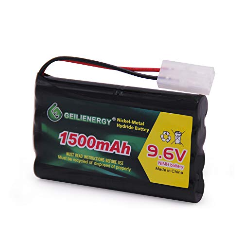 QBLPOWER 9.6V 1500mAh NI-MH Rechargeable Battery Pack Tamiya Plug for RC Car Boats Robots 1Pack