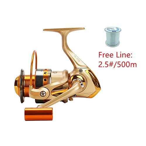 FAIGAFAIVA Spinning Fishing Reels 12 Stainless BB Lightweight/Heavy Duty Powerful Metal Spool 1000 to 9000 Series for Saltwater/Freshwater