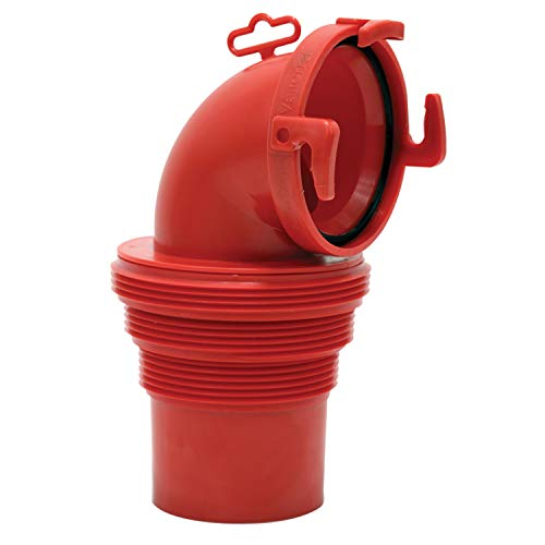 (Valterra F02-3112 EZ Coupler 90° Bayonet Sewer Fitting-Red)