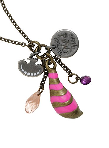 Disney Alice In Wonderland Cheshire Cat Cluster Charms Necklace (Cat On Alice And Wonderland)