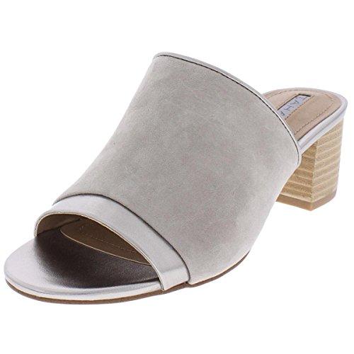 - Tahari Womens Daisie Leather Open Toe, Stone/Feltro Suede/Metallic, Size 10.0
