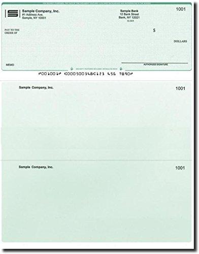 Computer Checks - 100 Printed Laser Computer Voucher Checks - Compatible for QuickBooks - Green Diamond