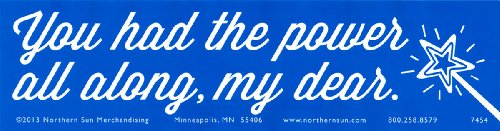 "You Had The Power All Along, My Dear - Magnetic Bumper Sticker / Decal Magnet (11.5"" X 3"")"