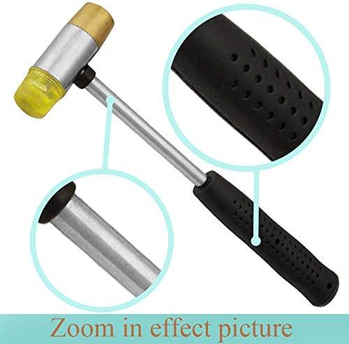 Gunsmith Brass Hammer Set Nylon Face Tips Driving Pins Punches Non Marring Tool