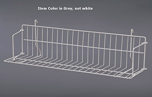 Case of 10 New Grey Strong Welded Design Grid Standard Shelf 24'' Wide