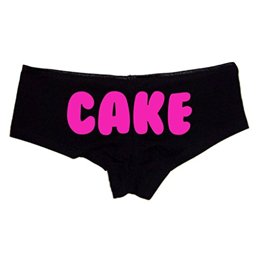 Cake Sexy Black Medium Women's Cheeky Boyshort Cotton Bikini Bottom Panties