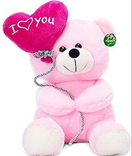 God Gift Pink Stuffed/Soft/Cuddle Ballon Teddy Bear 30 cm