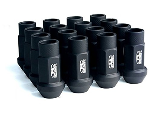 BLOX Racing BXAC-00104-SSFB Lug Nut, Flat Black, 12 x 1.5mm, Set of (Blox Lug Nuts)