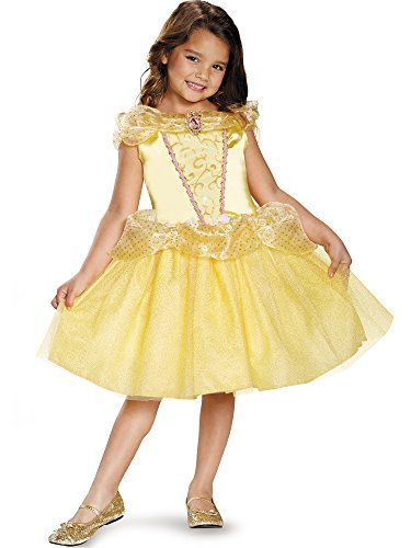 Disney Princess Girls Belle Classic Costumes (Belle Classic Disney Princess Beauty & The Beast Costume, One Color, Small/4-6X)