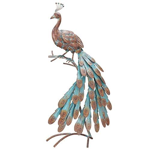 Regal Art &Gift  Rustic Peacock Decor (Peacock Metal Statue)