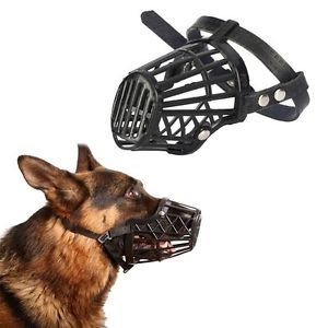(Zehui Adjustable Basket Mouth Muzzle Cover for Dog Training Bark Bite Chew Control)