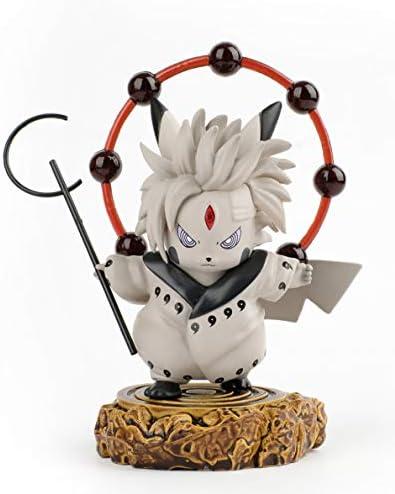 DOMAN Naruto Actions Figures Pikachu Cosplay Uchiha Madara Figure Statues Rikudousennin Modo Collection Birthday Gifts PVC 4″