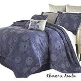 Charisma Amelia Euro European Pillow Sham Silk Gray Silver