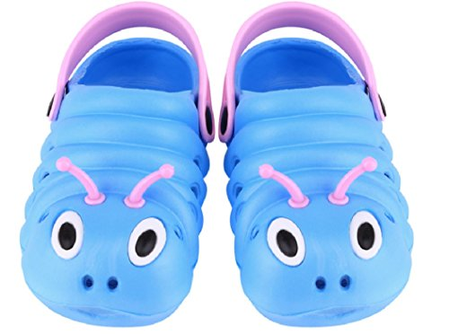 Price comparison product image The Cute Lil Caterpillar Clog in Blue from Chunks of Charm (5.5)