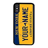 iphone 5 case new york yankees - BleuReign(TM) Personalized New York License State Plate TPU RUBBER SILICONE Phone Case Back Cover For Apple iPhone X Ten