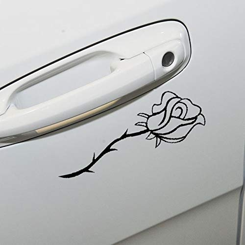 15CM6.2CM Car Rose Flowering Vinyl Graphics Tailgate Trunk Sticker Vinyl Decal for Cars, Trucks, Windows, -