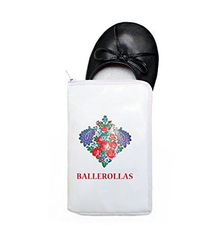 BALLEROLLAS - Bailarinas de Material Sintético para mujer Negro negro